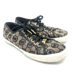 MICHAEL KORS Signature Canvas  Sneakers